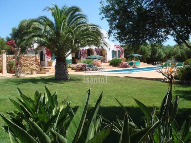 Casa de campo con vistas al mar. Son Tomeu. Menorca