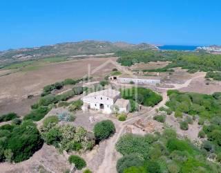 Country estate bordering the beach of Tirant. Menorca