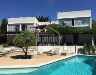 Villa situated on the south coast of Menorca with sea views