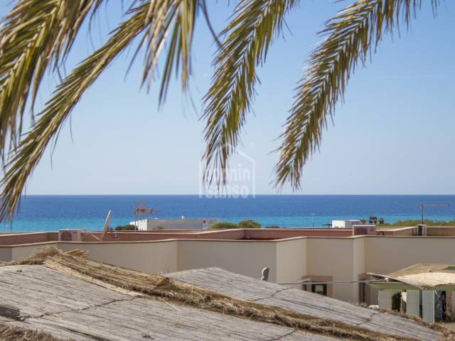 Apartment in the commercial area of Son Bou, south of Menorca.