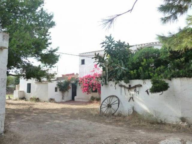 Two classic menorquian semi-detached farmhouses near Ciutadella Menorca
