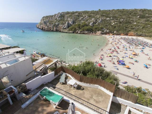 Seafront property next to the beach of Cala'n Porter, south of Menorca.