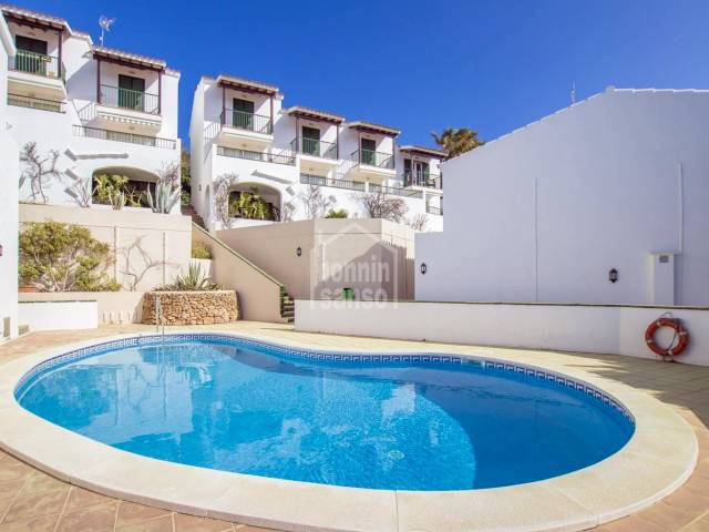 Terraced house by the golf course in Son Parc, Menorca
