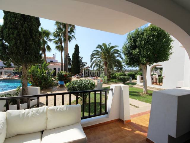 Ground floor apartment overlooking swimming pool, Siestamar, Calan Porter, Menorca