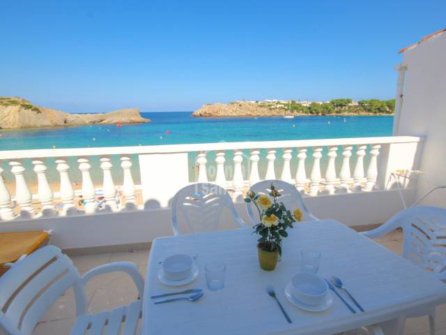 Frontline apartment at Arenal den Castell. Menorca