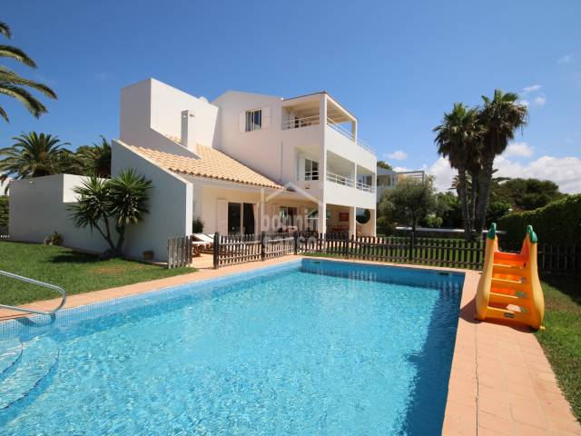 Magnificent and spacious villa next to the beach of Son Xoriguer, Ciutadella, Menorca