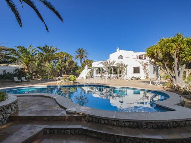 Farmhouse with Tennis Court and lots of land close to San Luis, Menorca.