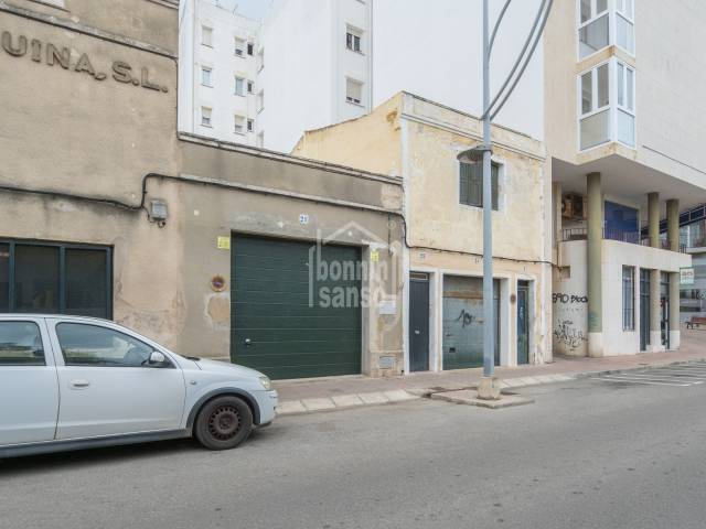 Garage with right to build additional storeys in Mahon, Menorca