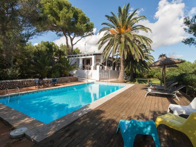 Beautiful refurbished villa in the middle of untouched nature in the national park of Es Grau in Menorca