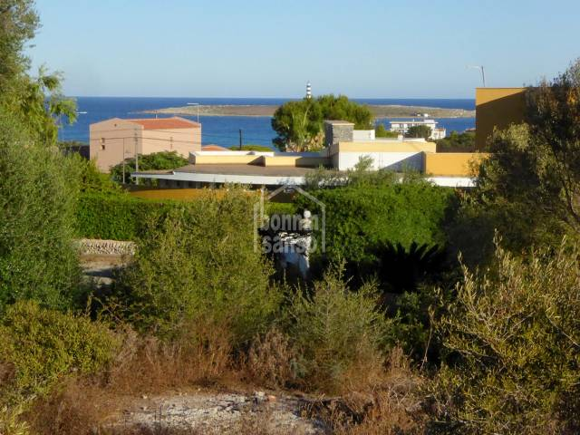 Baugrundstück in Punta Prima an der Südküste von Menorca