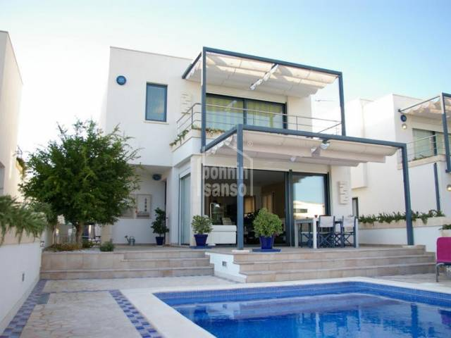Modern villa next to the beach of Son Xoriguer, Ciutadella, Menorca