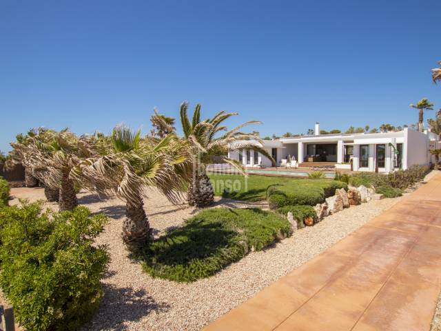 Elegant front line villa with spectacular sea views, in the charming area of Binidali, Mahon, Menorca