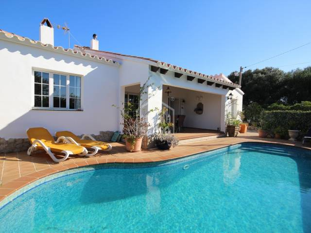 Pretty House on One floor for all year around living in Son Vilar, Menorca