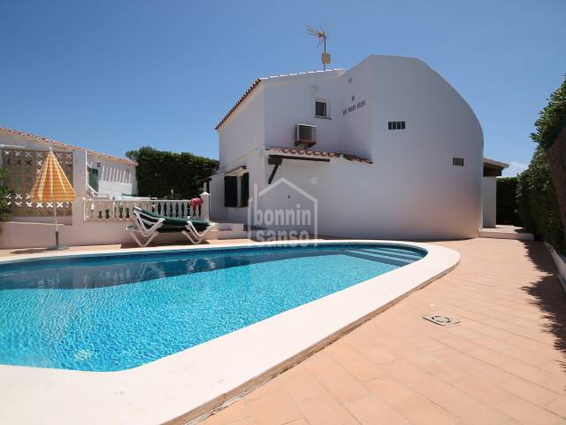 Lovely villa with sea views near to the beach in Binbeca, Menorca