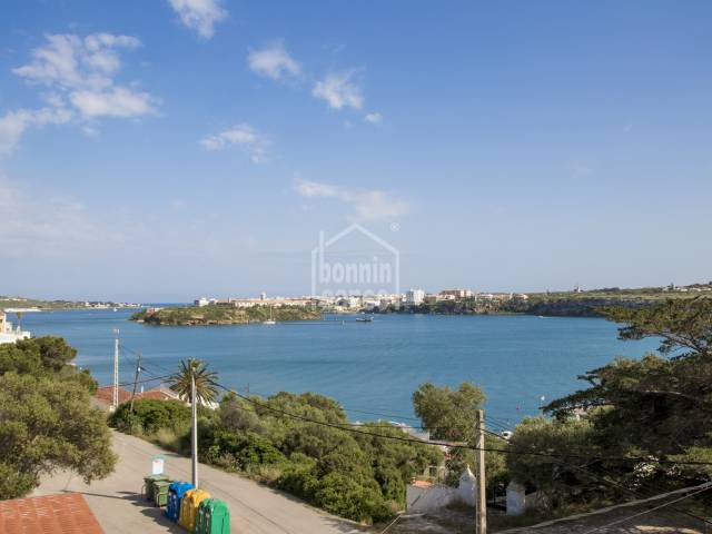 South- west facing villa with excellent views over the Port of Mahón. Menorca