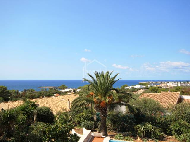 Panoramic views from this wonderful villa in Binisafua Rotters, Menorca.