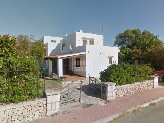 Corner villa in the residential area of Calan Blanes, Cuidadela, Menorca