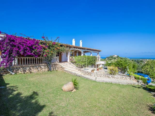 Country house with stunning panoramic views of the sea and the Bay of Cala Millor, Mallorca
