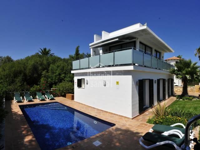 Modern villa with tourist licence and sea views in Salgar ,Menorca