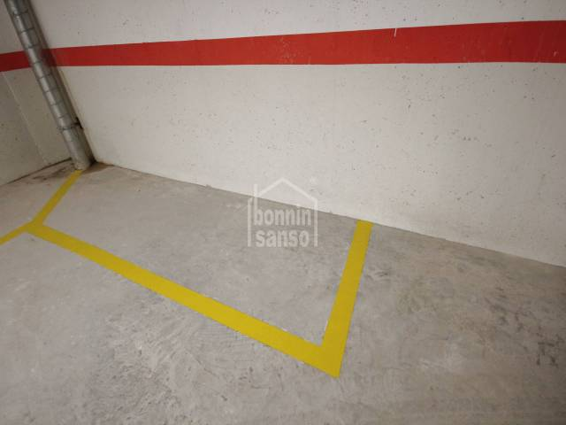 Parking space for a motorbike or bicycles, just next to Ciutadella's old town centre, Minorca