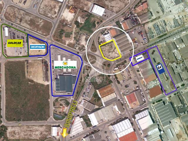 Interesting building plot of land on the Industrial estate of Mahon, Menorca