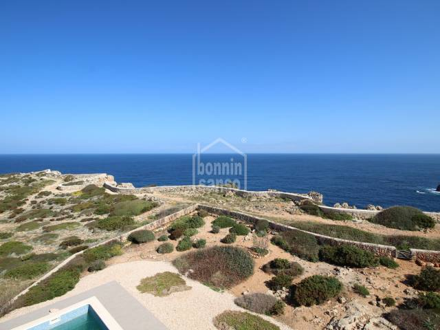 Exceptional newly built villa on the first line of Cala Morell, Ciutadella, Menorca