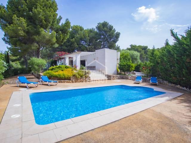 Chalet con piscina en Son Parc, Menorca