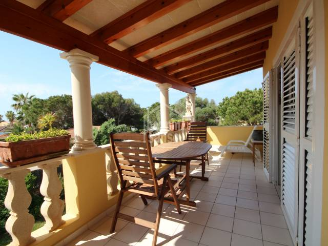 Nice first floor apartment with terrace in Cap D'Artrutx, Menorca