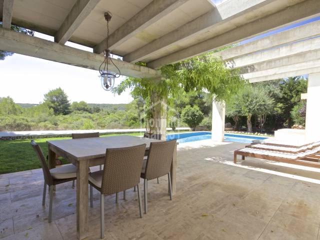 Attractive and modern villa next to Son Parc golf course, Menorca.