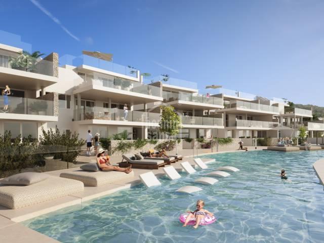 Complejo de apartamentos con piscina en Arenal den Castell, Menorca
