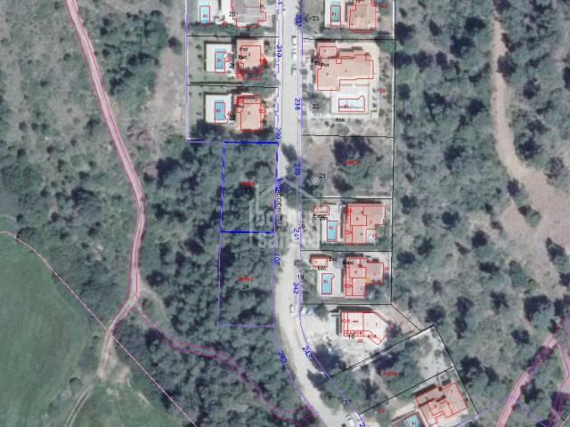 Plot of land of 700m² in Son Parc, Menorca