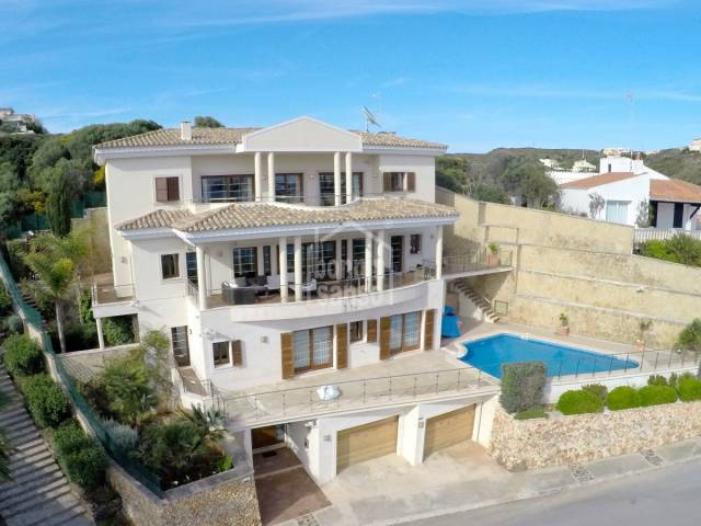 Luxury front line villa with stunning harbour views, Mahon