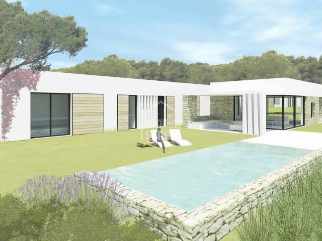 Villa en construccion con impresionantes vistas sobre Puerto Addaya, Na Macaret. Coves Noves. Menorca