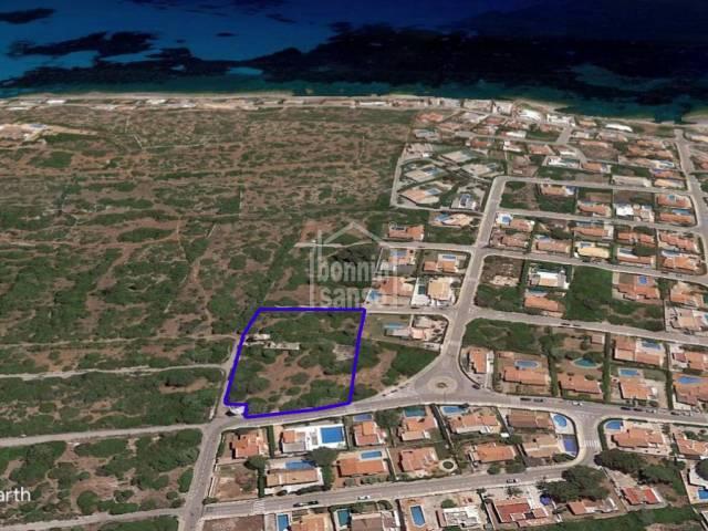 Gran solar en Son Ganxo, costa sur de Menorca