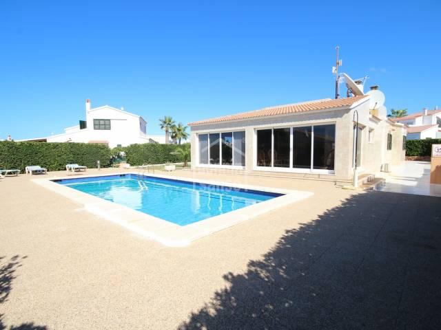 Second line villa with private pool, in Cap Artruix, Ciutadella, Menorca
