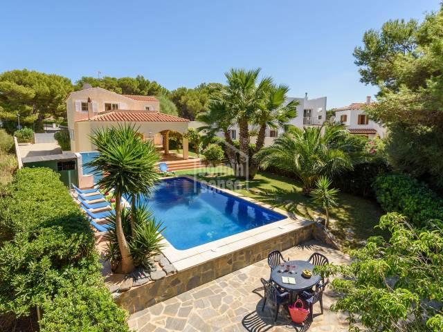 Gran chalet con piscina en Addaya, Menorca