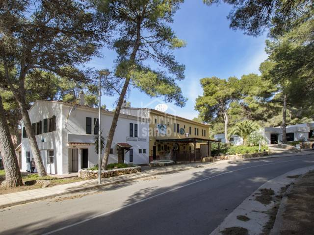 Property comprising a business and accommodation in Son Parc, Menorca.