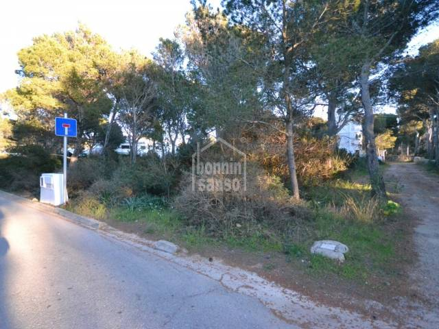 Baugrundstück in Cala Morell
