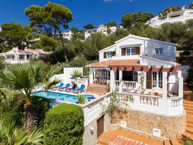 Stunning Sea views from this modernised south facing villa in son Bou. Menorca