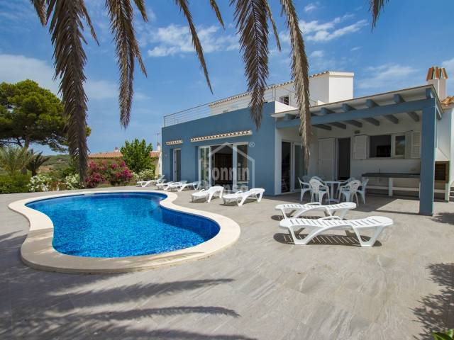 Luxury two storey villa with excellent sea views in Cala Canutells, Menorca