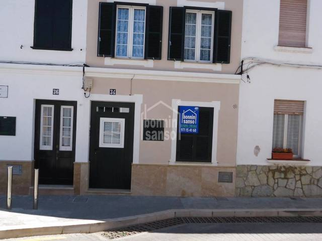 Extraordinary terraced town house with a back courtyard  in the heart of Mercadal, Menorca.