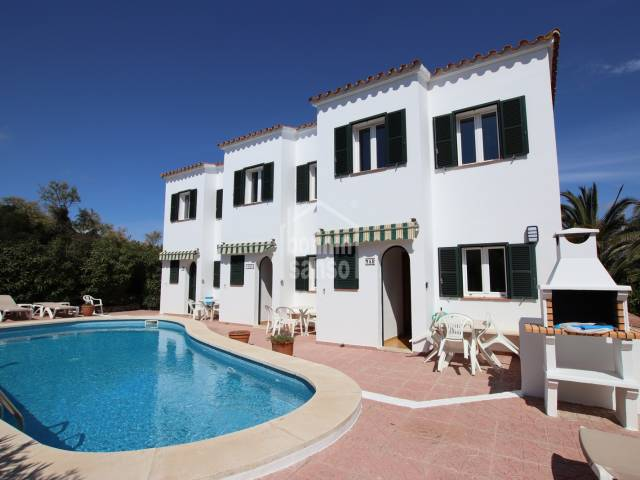 Three villas with pool sold together in Addaya, Menorca