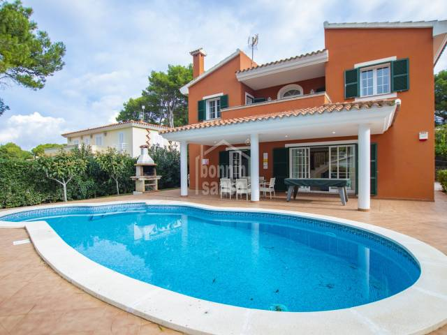 In Son Parc, nice villa with pool.