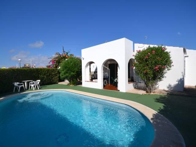 Chalet con piscina en Cap D'Artrutx, Ciutadella, Menorca