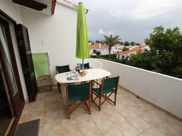 Apartment on first floor with views over urbanisation and sea.Salgar, Menorca