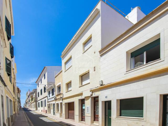 Building divided into two properties and a garage, close to the center of Mahón, Menorca