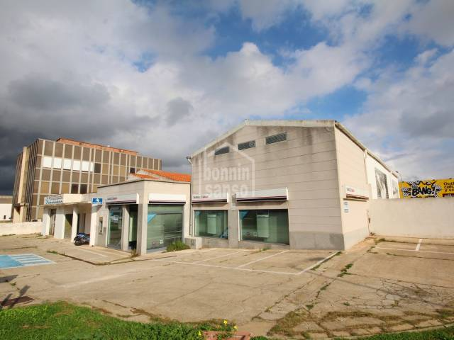 Business premises in the industrial park, Mahon, Menorca