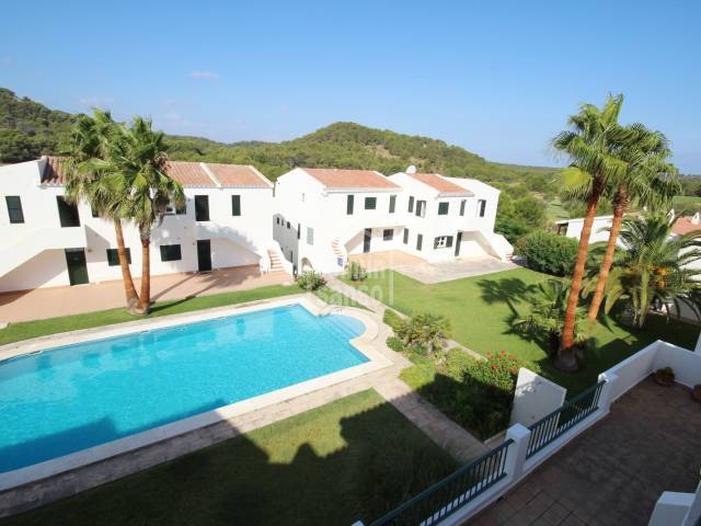 Apartment next to the Son Parc Golf, with pool and garden, Menorca