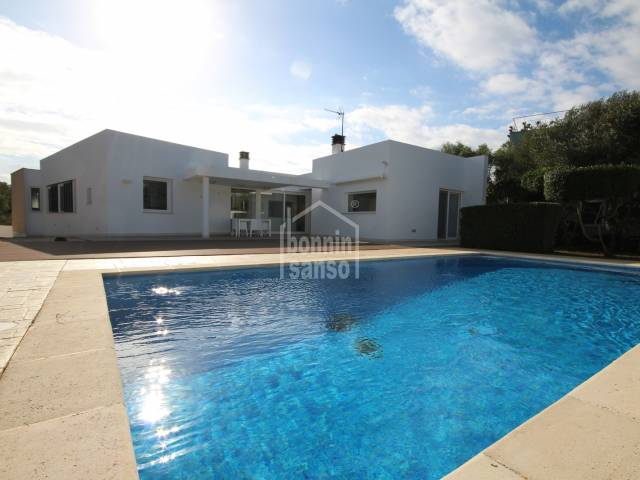 New high level villa with TOURISTIC LICENSE, close to the beach of Santandria, Ciutadella, Menorca