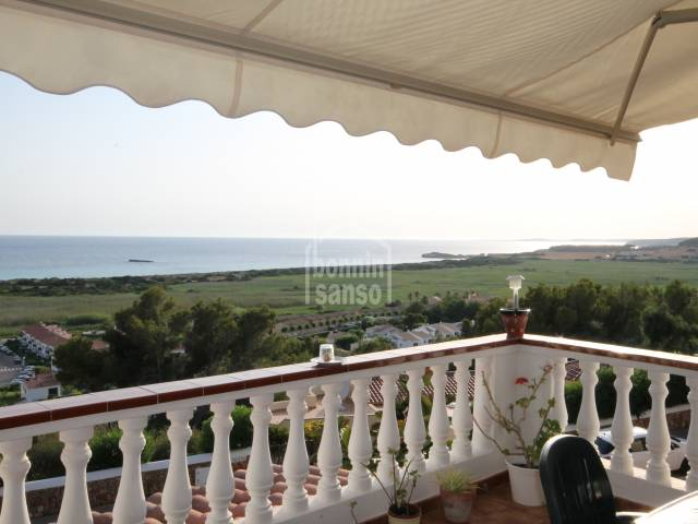 Apartment with unrivaled and uninterrupted panoramic views of Son Bou beach, south coast, Menorca